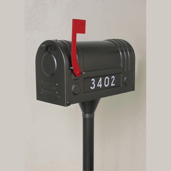 Ecco Steel Mailbox and Post Package - Contemporary - Mailboxes