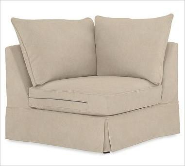 PB Comfort Square Arm SectionalCorner Knife-EdgeEveryday VelvetBuckwheatSetDown traditional-sectional-sofas