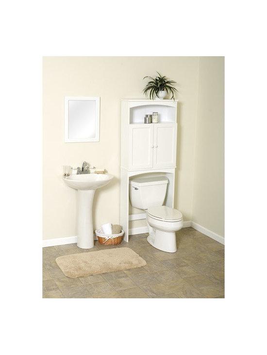 Zenith 2-Door Cottage Wood Space Saver Cabinet -