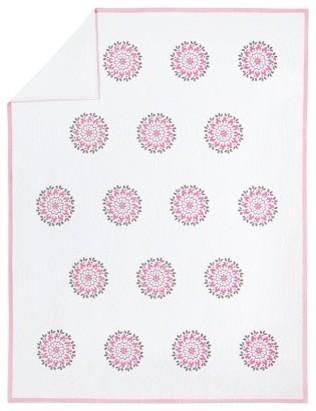 Dahlia Medallion Quilt, Pink modern-kids-bedding