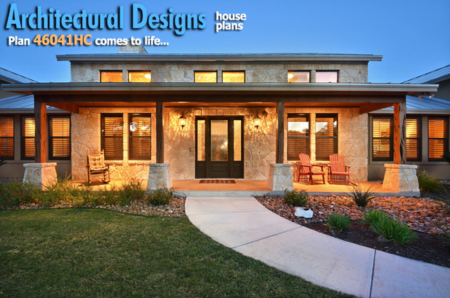 House plans and design architectural designs hill country for Hill country plans