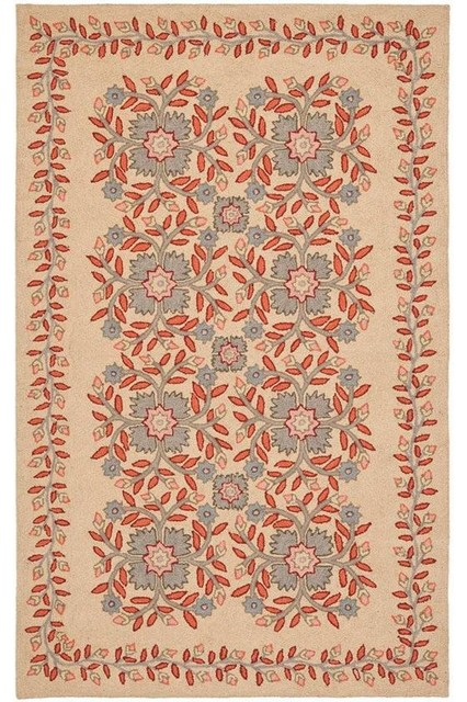 Martha stewart living folklore area rug traditional for Martha stewart rugs home decorators
