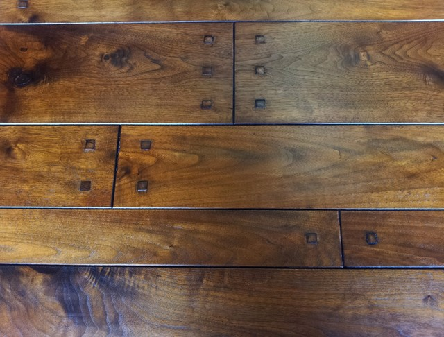 Walnut Plank with square pegs - Traditional - Hardwood Flooring - other metro - by Select ...