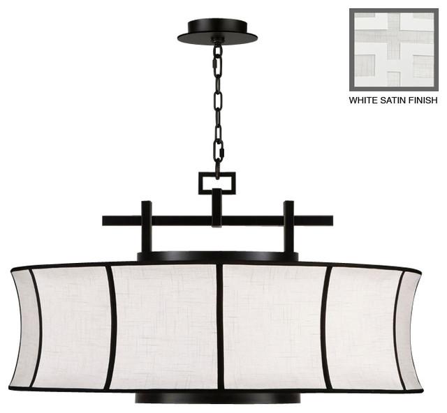 Black + White Story Pendant, 233540-5ST asian-pendant-lighting