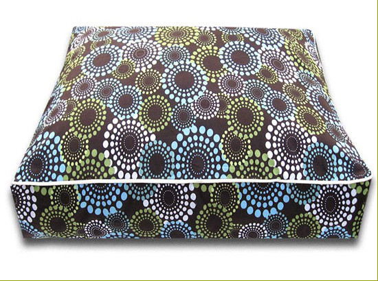 Daisy Dots Rectangle Luca Luxe Dog Bed