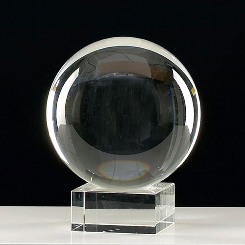 Baxter Crystal Glass Ball On Stand Contemporary Home