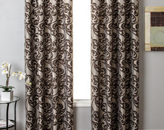 Blindsgalore Signature Drapery Panel: Kunas Patterned Jacquard traditional curtains