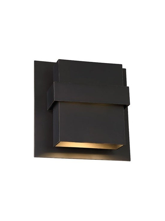 WAC Modern Forms - WAC Modern Forms | Pandora 11 Inch LED Outdoor Wall Light - Design by Modern Forms.The Pandora 11 Inch LED Outdoor Wall Light is a multi-dimensional and versatile design. The sculpted sconce features a tiered design that is hand finished in oil rubbed bronze.