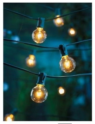 Globe String Lights Indoors : Clear Globe String Lights Set of 25 G40 Bulbs Indoor/ Outdoor - Contemporary - Holiday Lighting ...