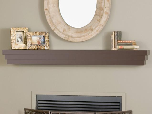 Cascade fireplace mantel shelf modern fireplace accessories other metro by - Beneficial contemporary fireplace mantel shelves ...