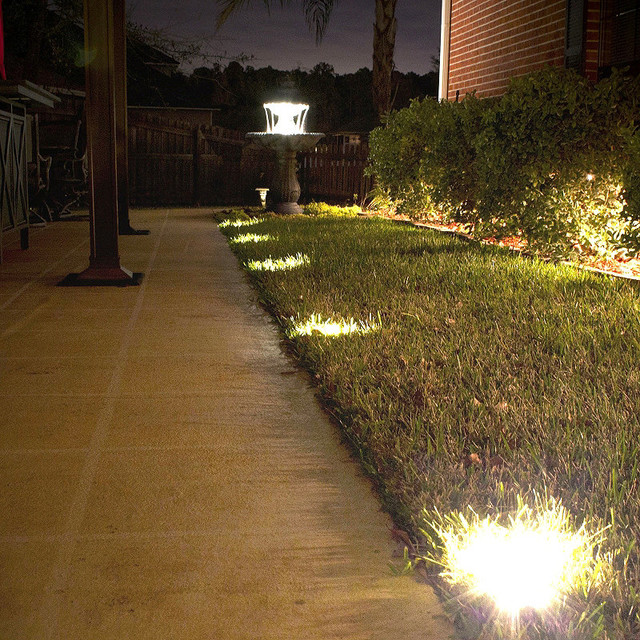 solar ground deck lights traditional outdoor lighting