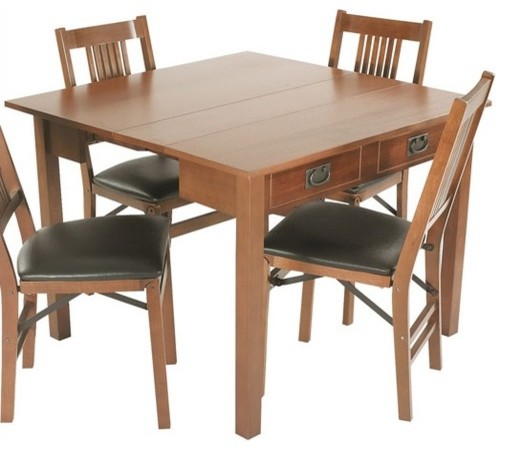 Mission style expanding dining table modern dining for Mission style dining table