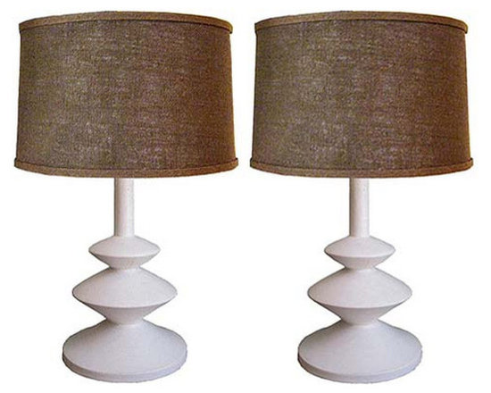 Pair of Large Alberto and Diego Giacometti Lamps - http://www.rtfacts.com/shop/lamps/pair-of-alberto-and-diego-giacometti-reproduction-lamps/