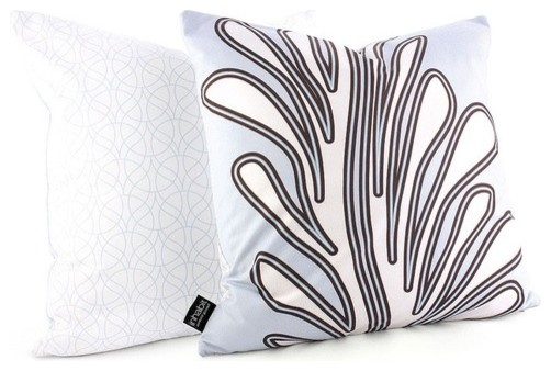 Seagrass Throw Pillow in Aqua modern-bed-pillows-and-pillowcases