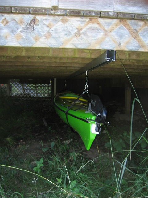 Under Deck Kayak Storage Contemporary Wall Hooks