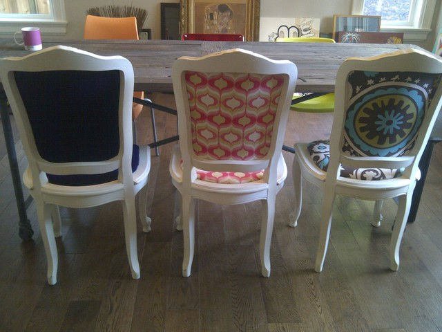 Upcycled Dining Room Chairs