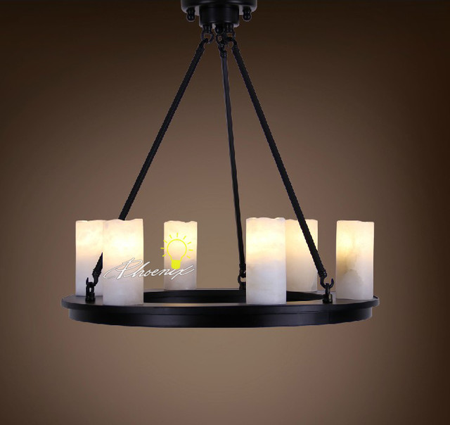 A1912 Marble Candle Chandelier Contemporary