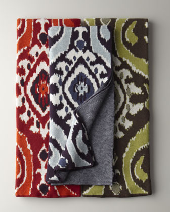 Eco Ikat Throw eclectic throws