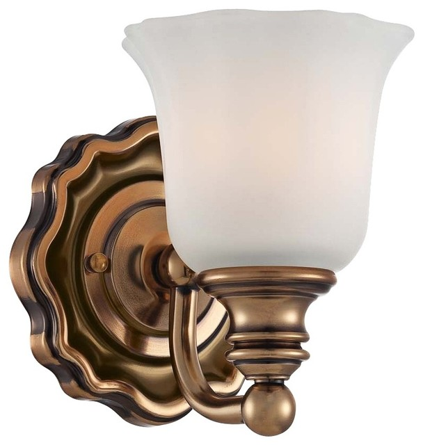 "Traditional Felice Bath 5 1/2"" Wide Vintage Cheshire Gold Wall Sconce traditional wall sconces"