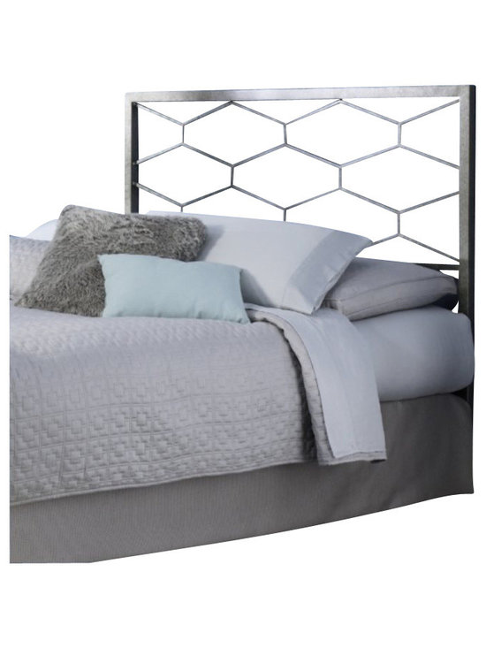 Fashion Bed - Fashion Bed Camden Headboard in Golden Frost-Queen size - Fashion Bed - Headboards - B12A25 - The Camden Bed offers a clean, sharp, unique look that quickly updates and changes your space. With square metal rails and posts and a fresh geometric design, the Camden Bed complements your contemporary decor with high-class style. The Camden Bed is finished in golden frost, a silvery base with gold-toned, hand applied sponging which creates a richly aged finish that complements its graceful lines. The Camden Bed is available in full, queen, and king sizes to accommodate any bedroom.