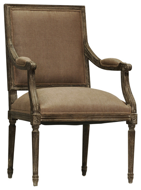 Louis Arm Chair - Copper, Limed Charcoal traditional-armchairs-and-accent-chairs