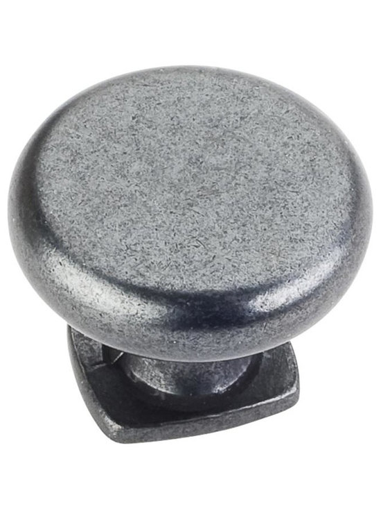 Jeffrey Alexander MO6303DACM Cabinet Knob - Belcastel 1 Series - Gun Metal Finis - This gun metal finish round cabinet knob with forged design is a part of the Belcastel 1 Series from Jeffrey Alexander. A perfect blend of craftmanship in traditional and contemporary design to complement any decor.