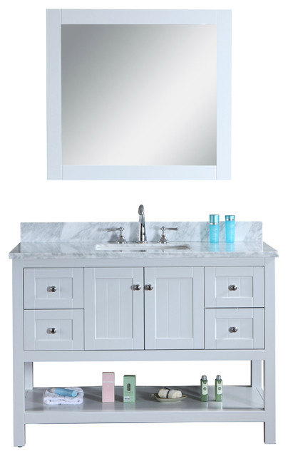Bathroom Vanity Light Gray : Emily 48
