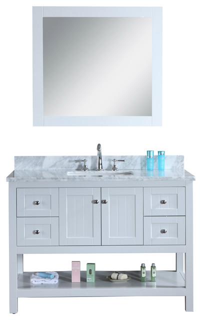 Emily 48 Cottage Style Bathroom Vanity With Carrara
