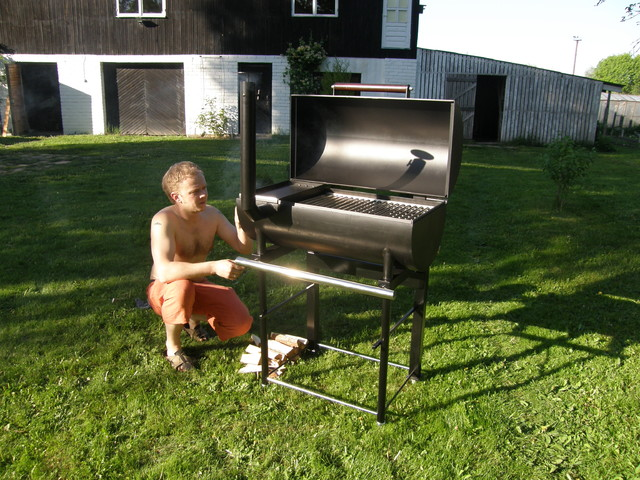 Custom Outdoor Smokers : Charcoal grills and smokers  Modern  Outdoor Grills  other metro