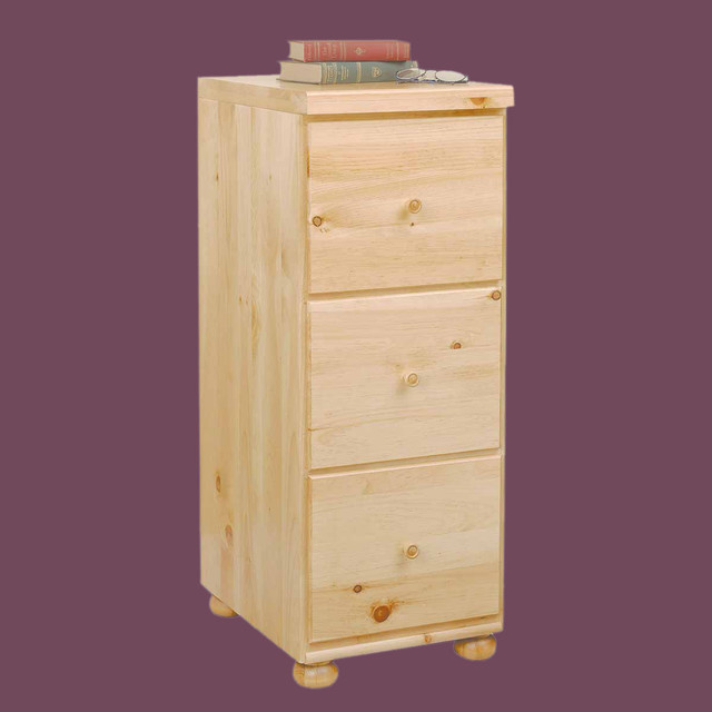 File Cabinets Country Pine Wentworth 3-drawer 40'' H | 195713 - Traditional - Filing Cabinets ...