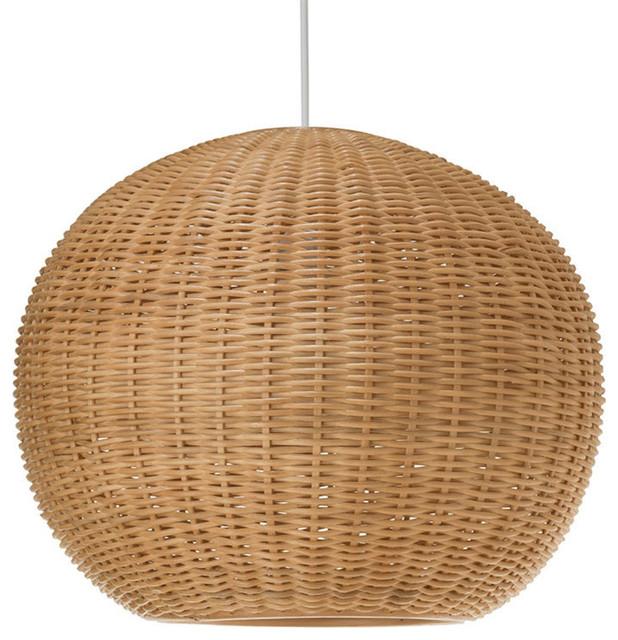 Wicker Ball Pendant Light Natural Tropical Pendant