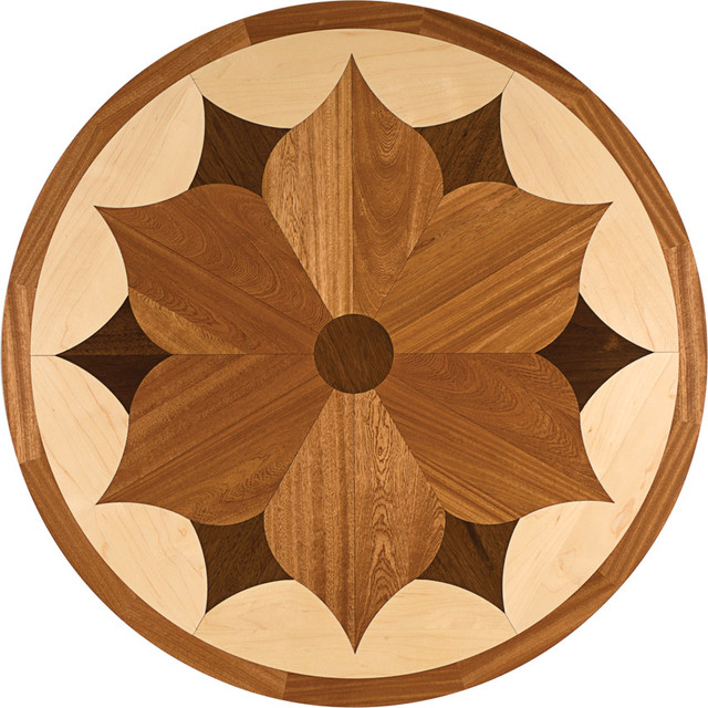 oshkosh designs charleston inlay medallion contemporary ForWood Floor Medallion Designs
