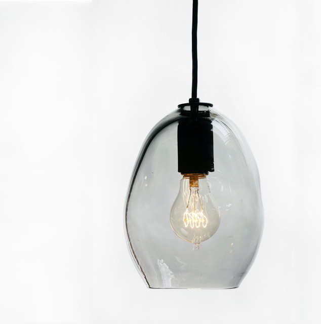 Hand Blown Bubble Glass Pendant Light