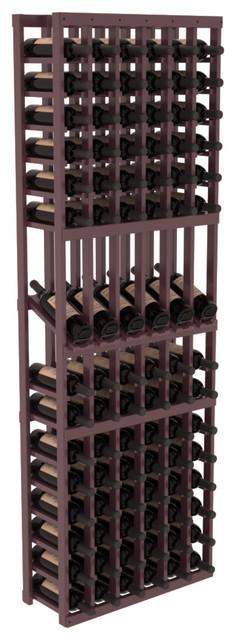 6 Column Display Row Wine Cellar Kit in Pine, Burgundy + Satin Finish contemporary-wine-racks