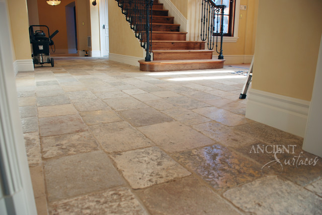 Antique Biblical Limestone Reclaimed Stone Flooring Pavers