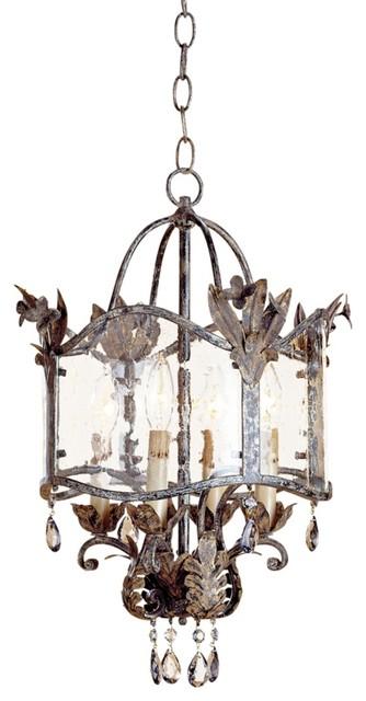 Currey and Company Zara Small Pendant Light traditional-pendant-lighting