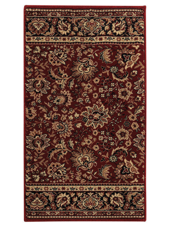 """Satin Tabriz runner roll rug in Red Blue - The crisp, traditional designs, fashion forward colorations and extra tight packed pile (1/2"""" thick) will wear like iron and give years and years of superior service."""