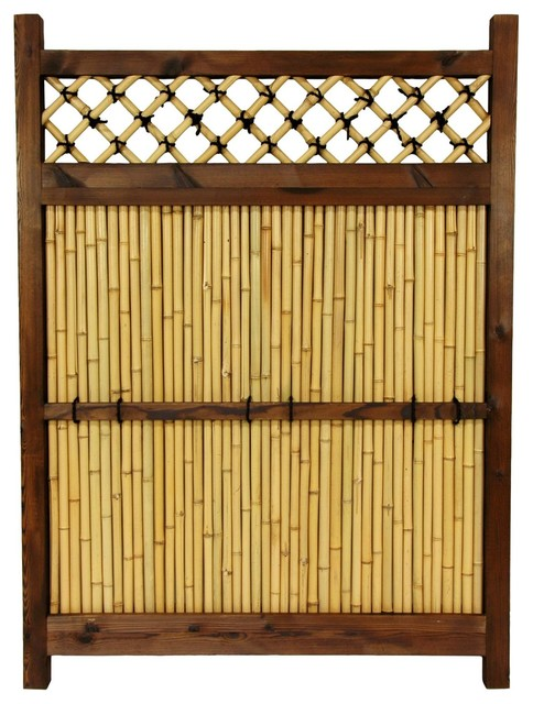 4 ft. x 3 ft. Japanese Bamboo Zen Garden Fence traditional-home-fencing-and-gates