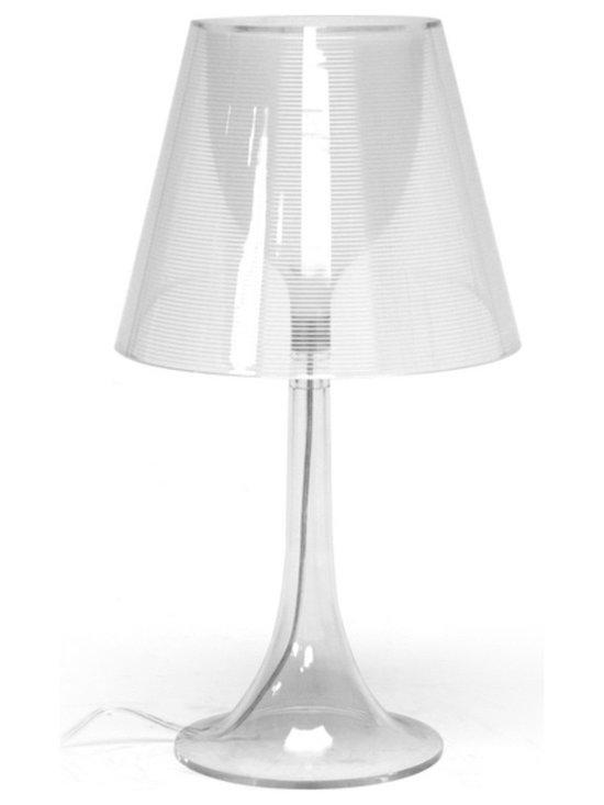Baxton Simpla Clear Acrylic Modern Table Lamp -