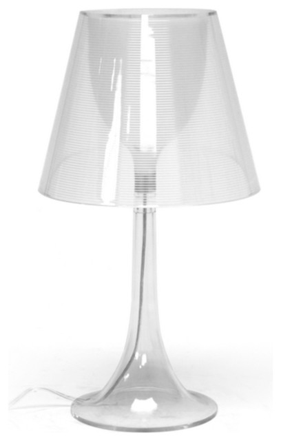Baxton Simpla Clear Acrylic Modern Table Lamp Modern