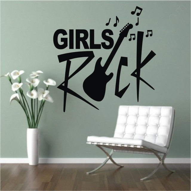 Music Notes Modern Kids Wall Decor By Colorful Wall Decals INC