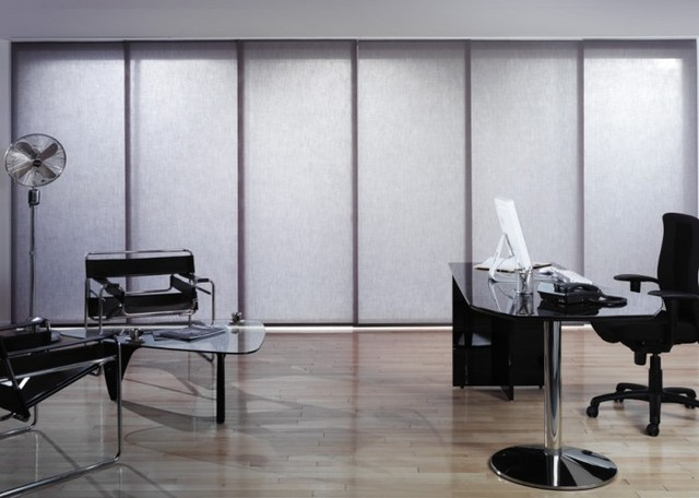 Panel Blinds eclectic-window-treatments
