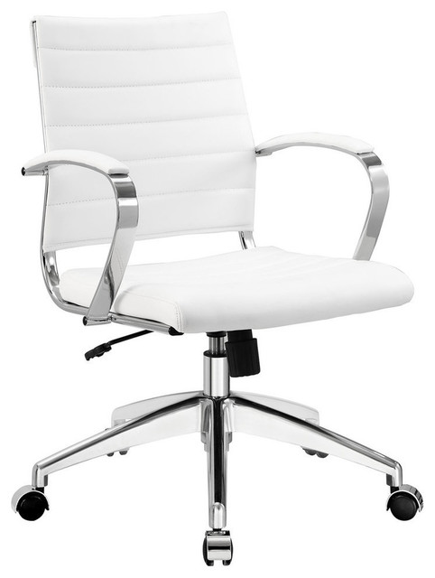 Modway Jive Mid Back Office Chair in White contemporary-office-chairs