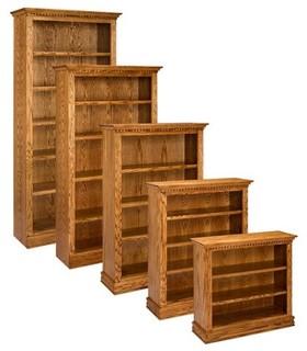 A & E Solid Oak Britania Wood Bookcase Multicolor - BRIT36X84-M - Contemporary - Bookcases - by ...