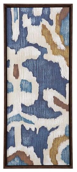 Ocean Ikat I Print eclectic-home-decor