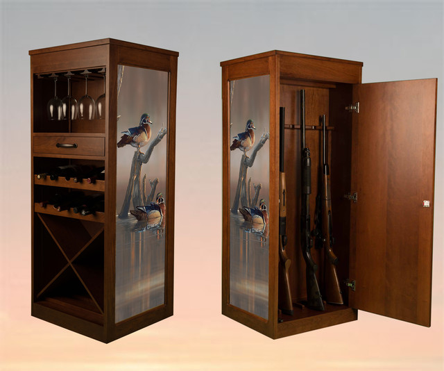 WAG - wine/art/gun cabinet - Rustic - Wine And Bar ...