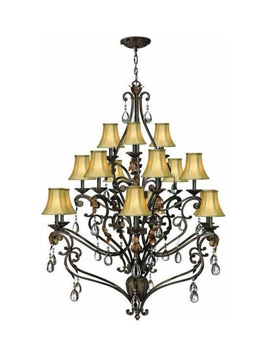 Hinkley Lighting 4807SU 3 Tier 15 Light Chandelier Veranda Collection -