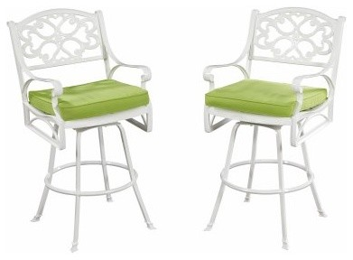 Home Styles Biscayne White Patio Bistro Stool modern-patio-furniture-and-outdoor-furniture