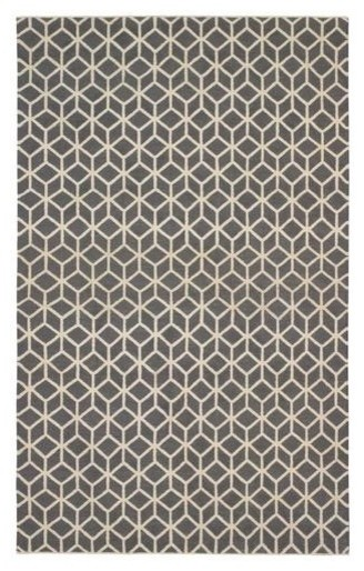 Dwellstudio Facet Charcoal/Cream Rug modern-rugs