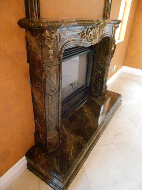 Faux Marble Fireplaces Traditional Fireplaces Los